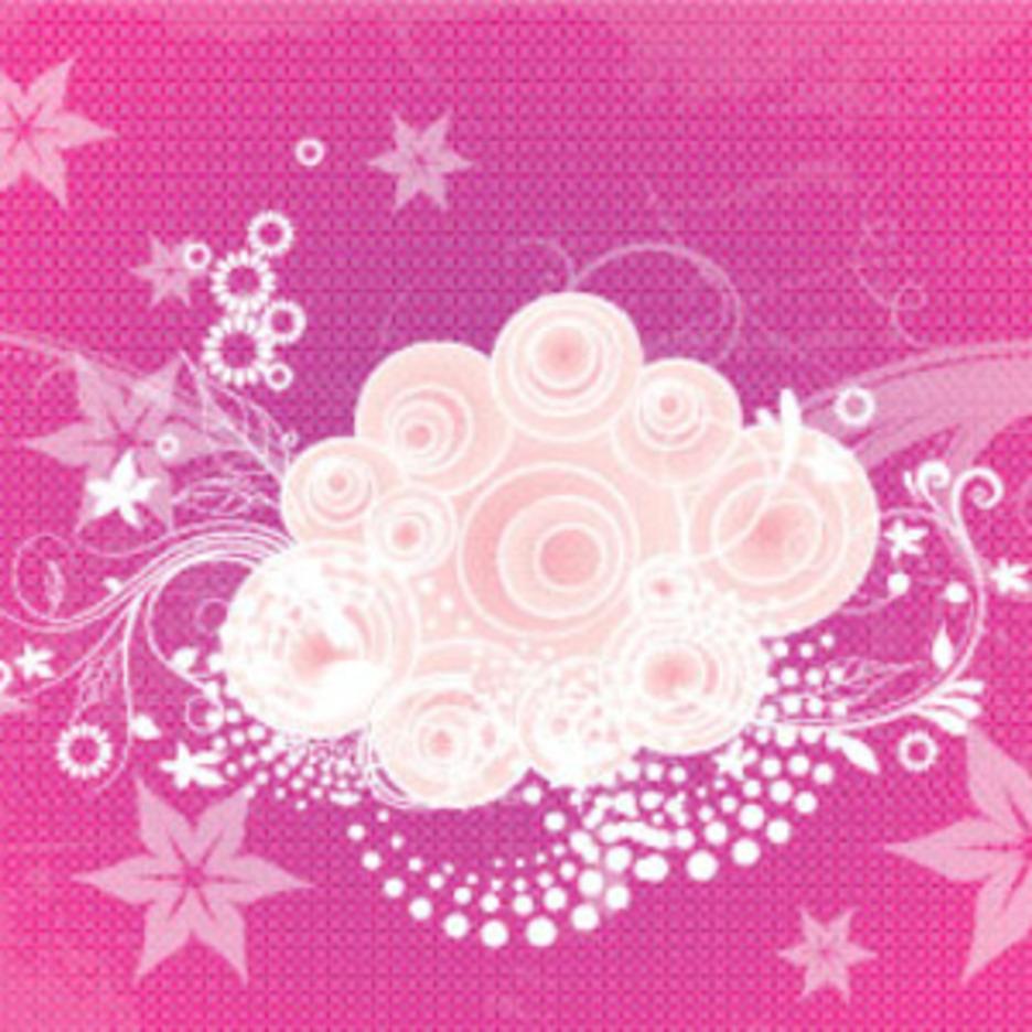 Purple Grunge Flowers Art Graphic