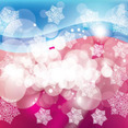 Enjoyable Blue Pink Abstract Free Vector