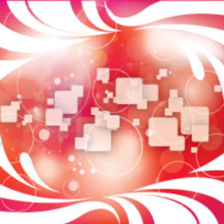 Abstract Designs In Red Squars Background
