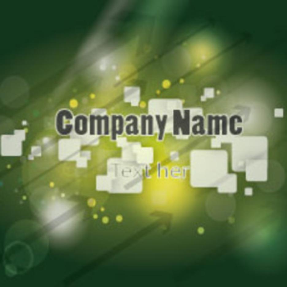 Green Compay Card Vector