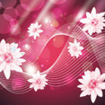 Super Pink Flowers Beauty Art Vector