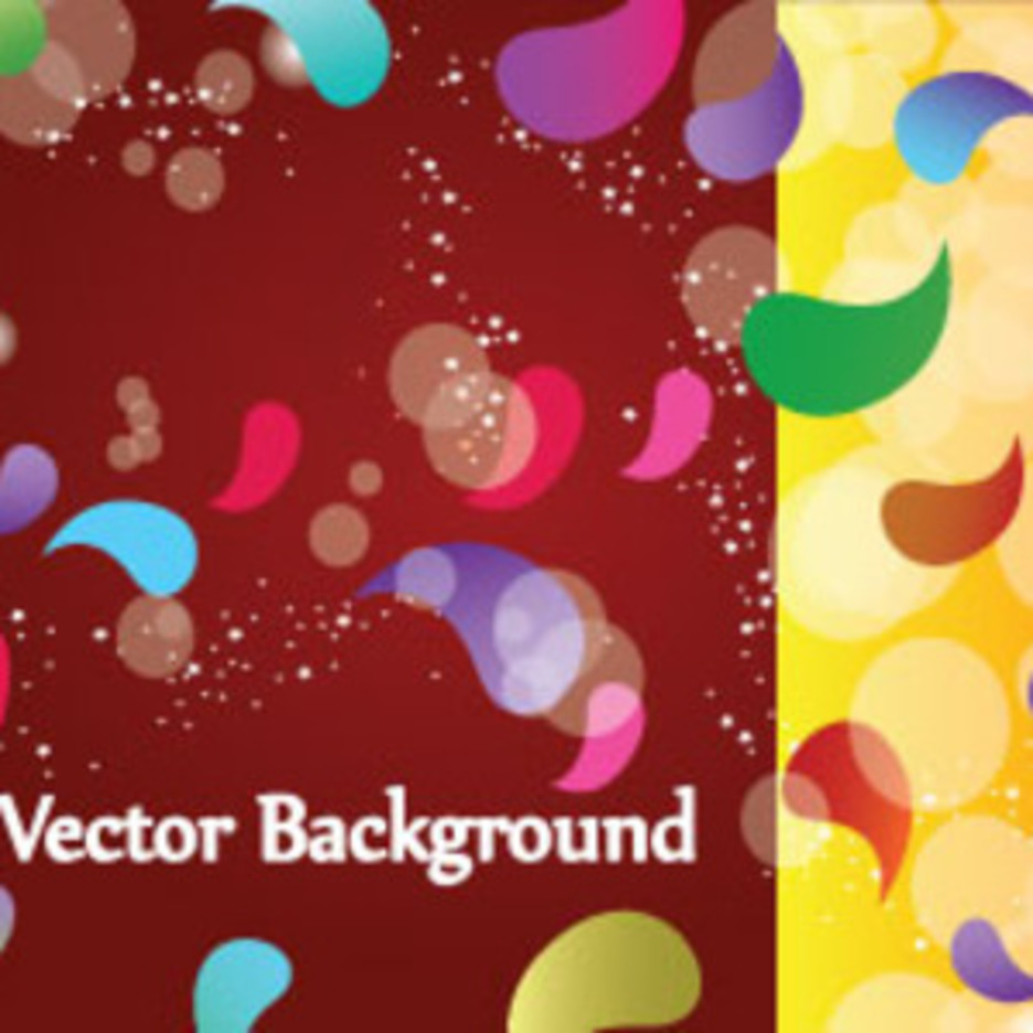 Colored Designs In Brown Yellow Background