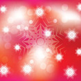 Red Background With White Ornament