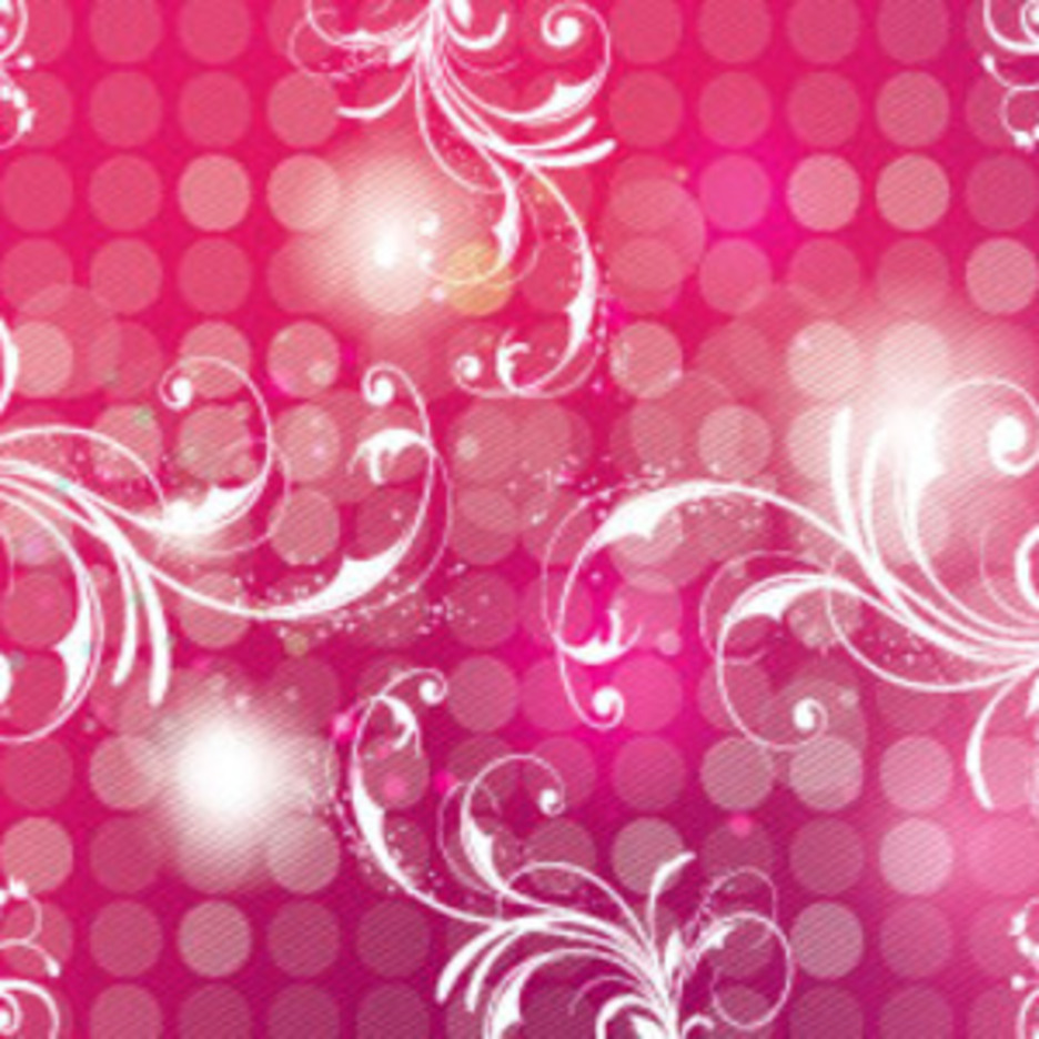 Pink Art Background With Swirls Design
