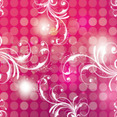 Pink Art Background With Swirls Design