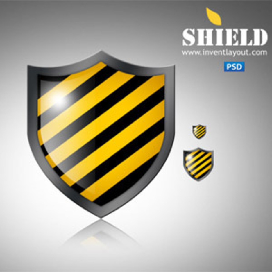 Shield Icon PSD