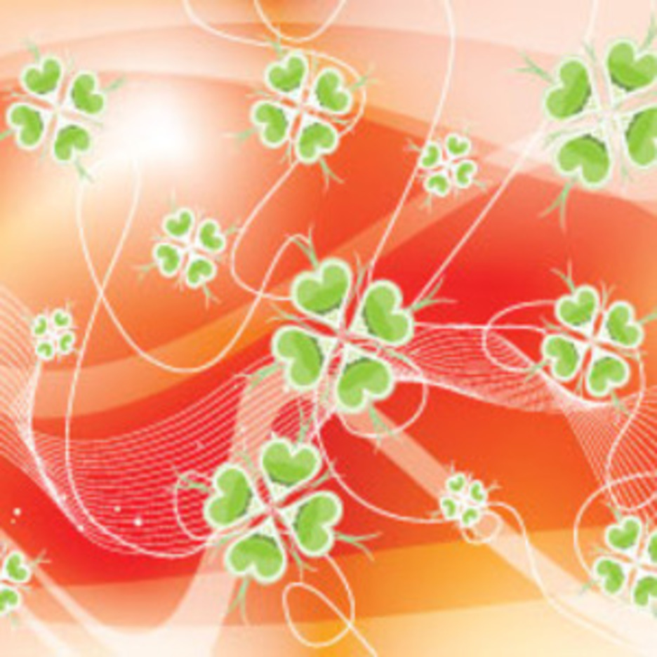 Abstract Wonderful Green Flower Vector