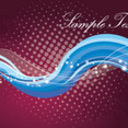 Blue Waves In Dark Red Background