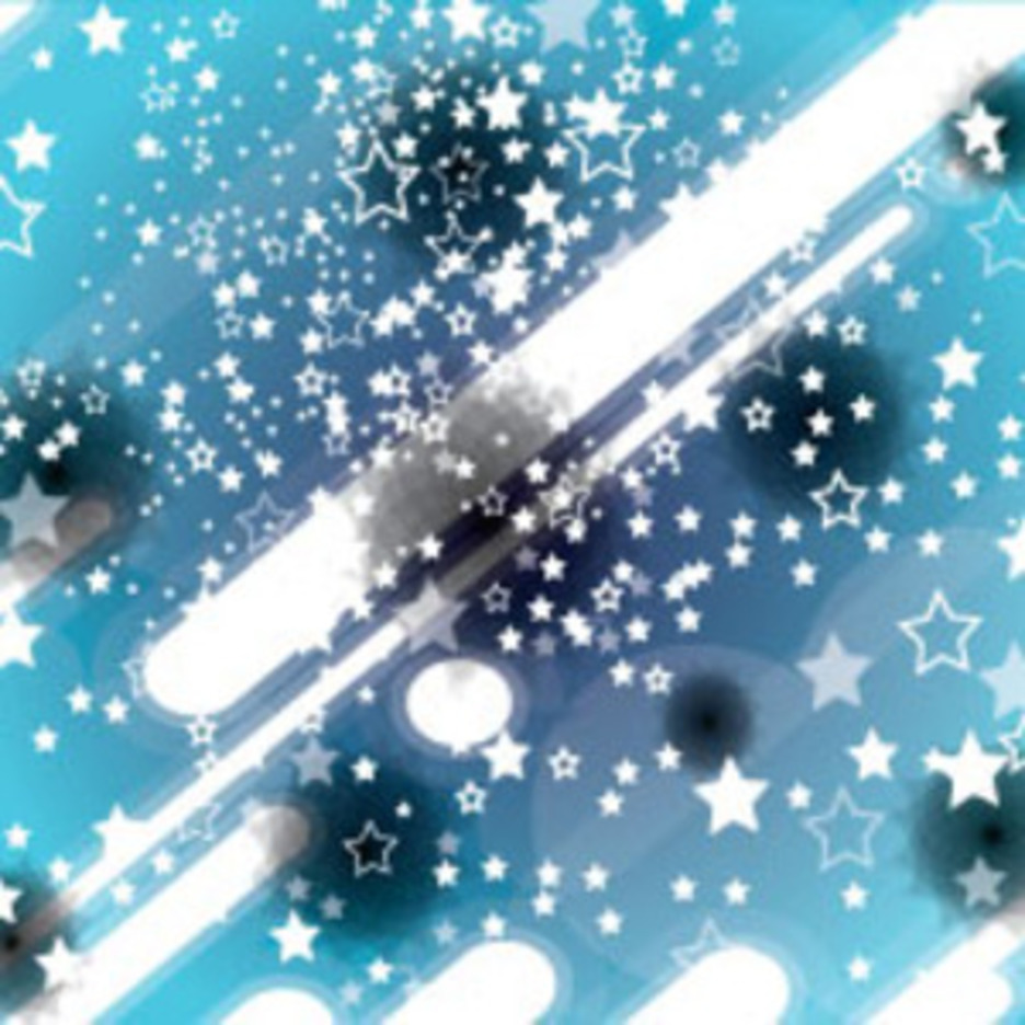 White Stars With White Lines In Blue Vector