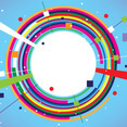Abstract Circle Colorful Banner