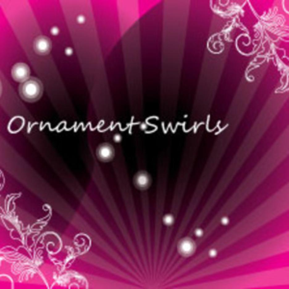 Dark Ornament Swirls Free Design