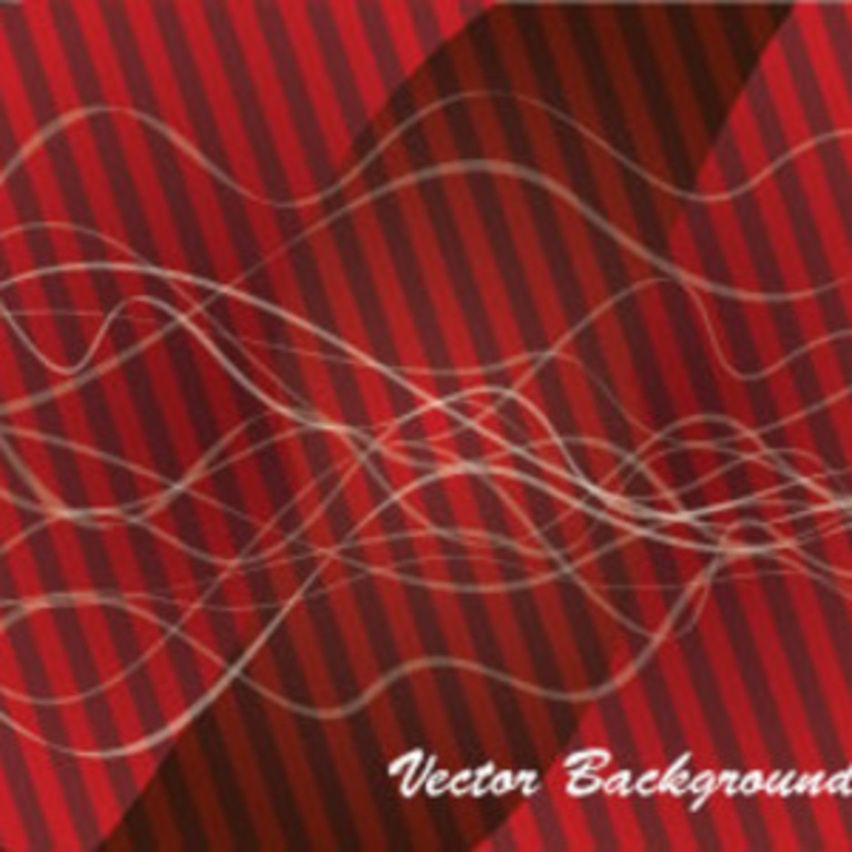 Design In Red Abstract Lined Background