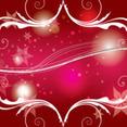 Red Shinning Swirls And Flowers Vector