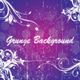 Grunge Swirly Purple Background Free Vector