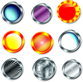 Set Of Vector Glossy Buttons