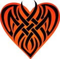 Tribal Heart Shape
