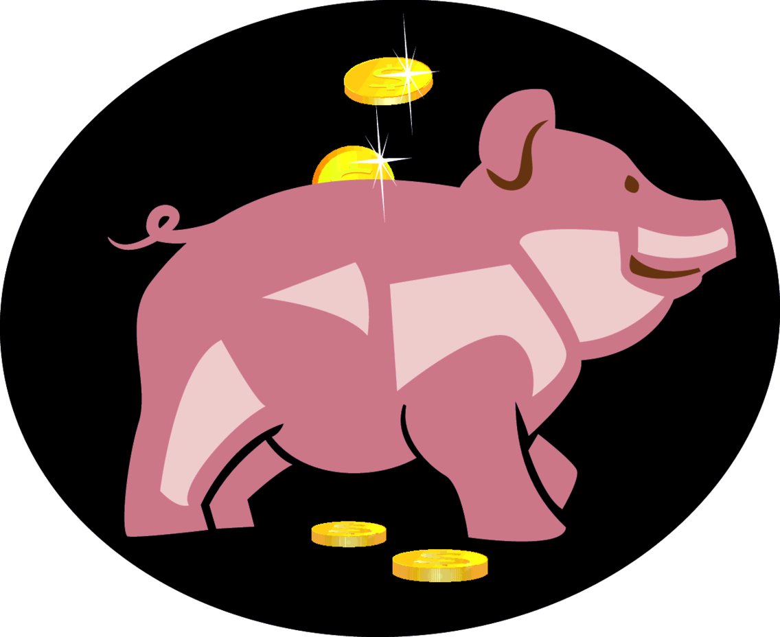 Pig Money Bank Vector