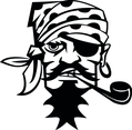 Pirate Smoking Pipe Vector