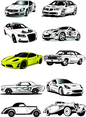 10 Cars Vector Set