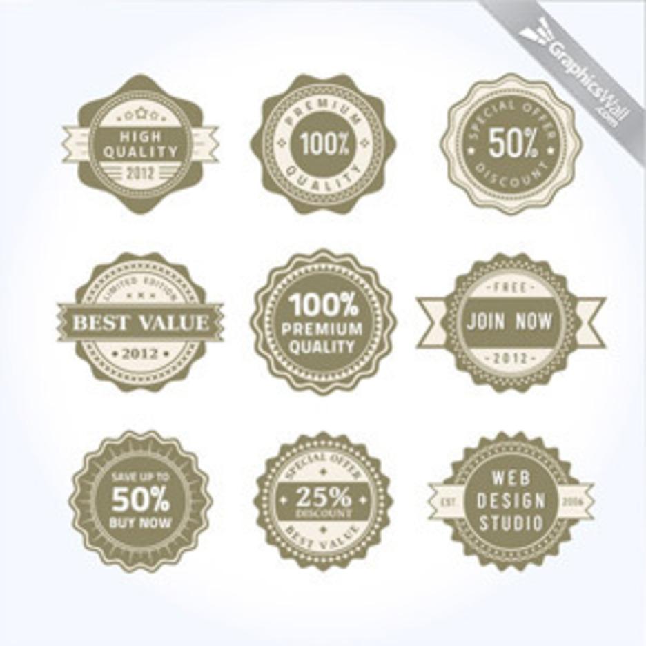 9 Unique Vector Badges