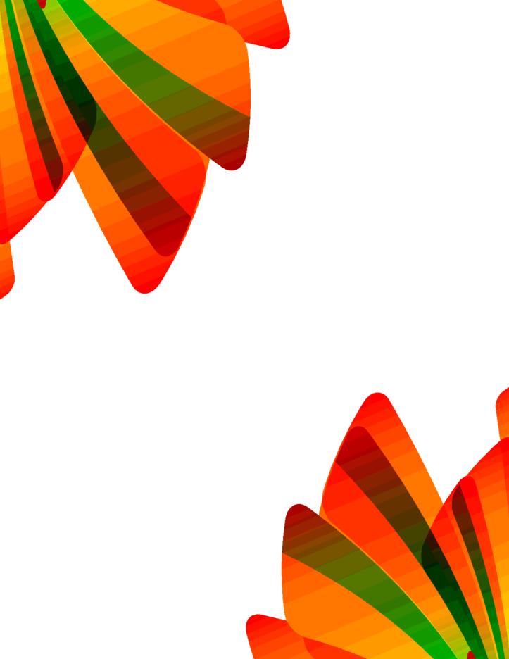 Abstract Orange Green Design