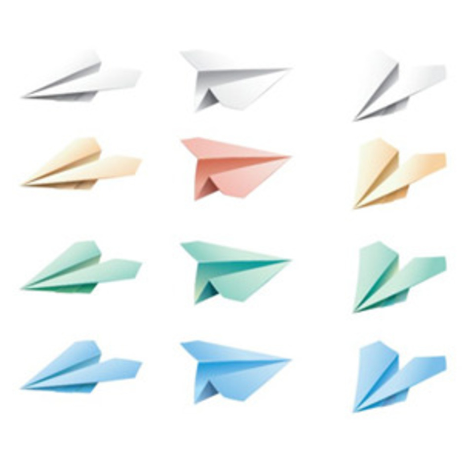 Colourful Paper Airplanes