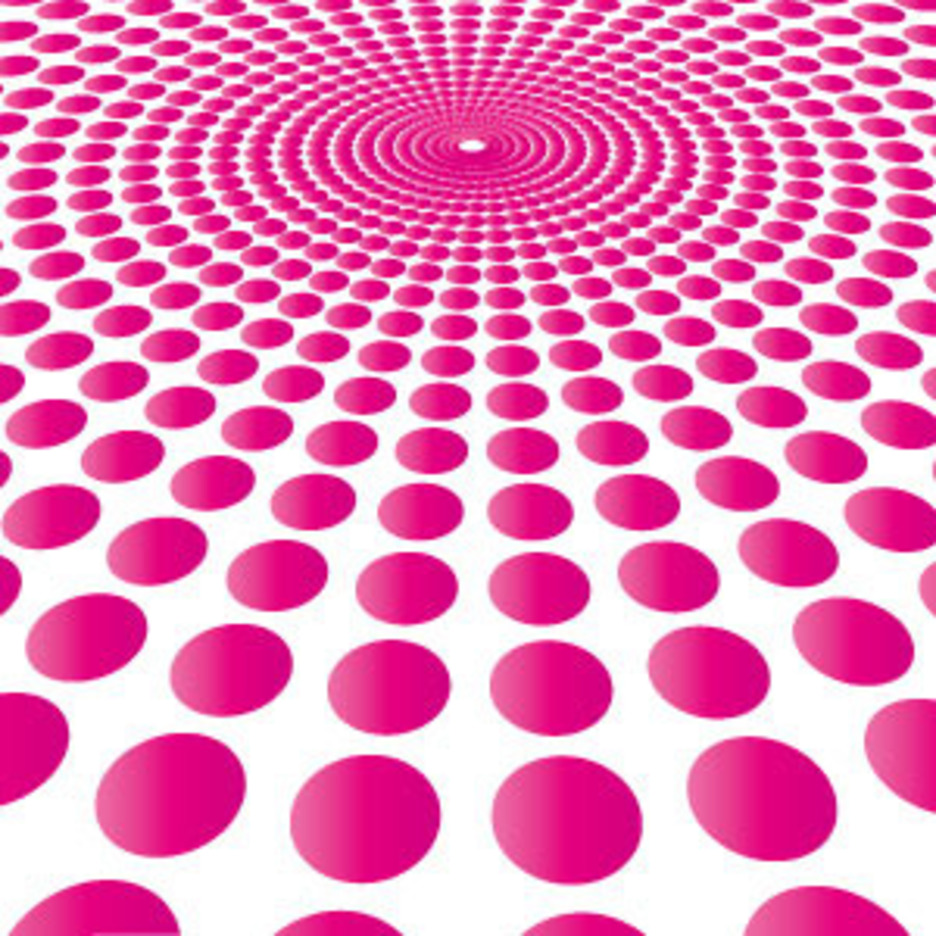 Pink Circle Burst Vector Background