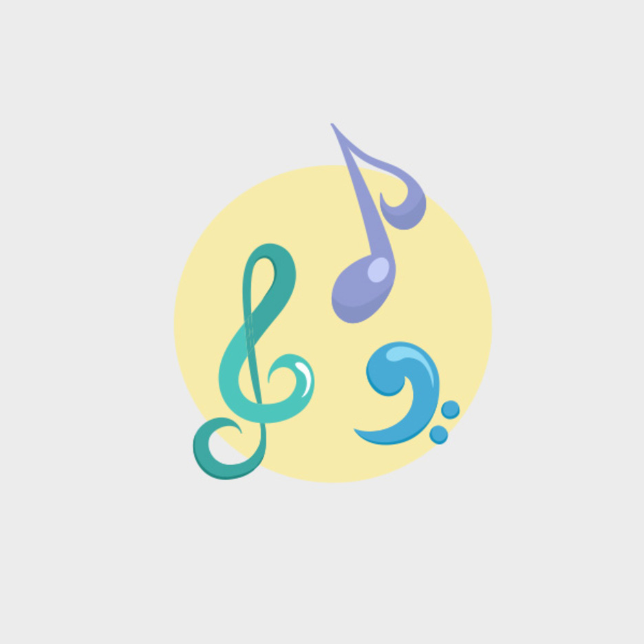 Free Pastel Music Vector