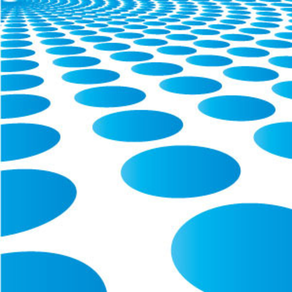 Blue Circle Burst Vector Background