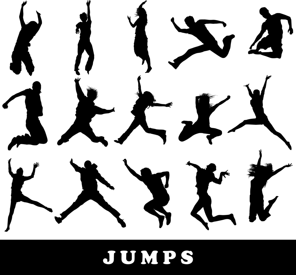 Jumping Silhouettes Set