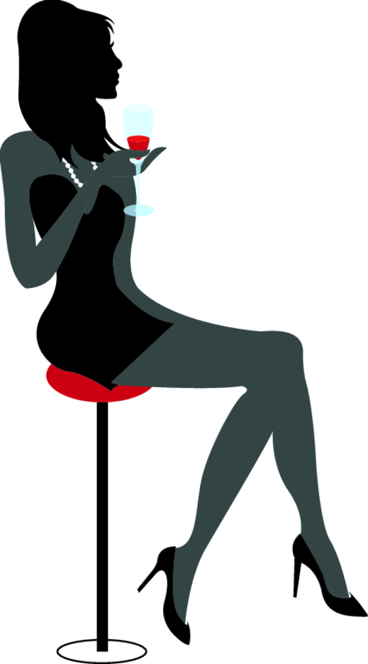 Girl Drinking Wine | FreeVectors