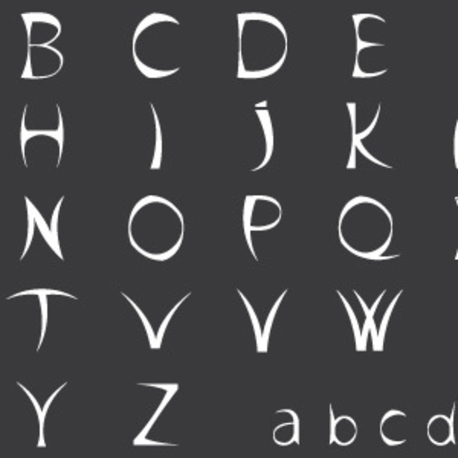 Black Sharp Alphabet Vector