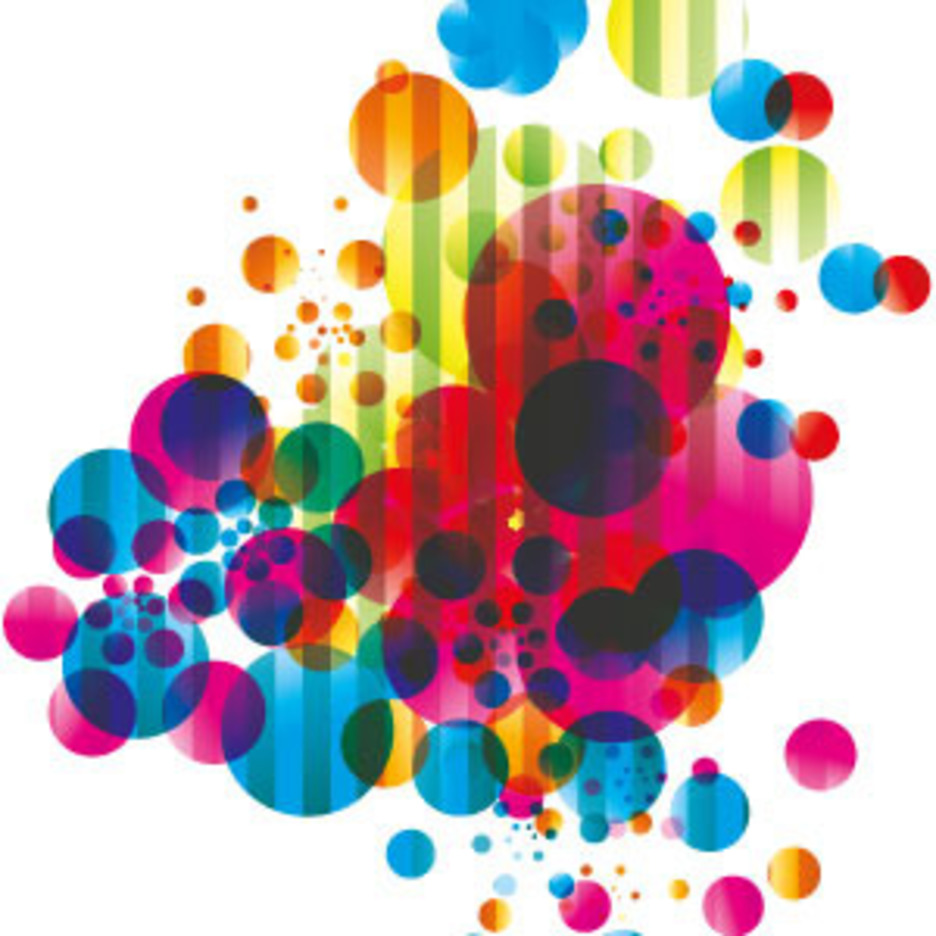 Abstract Colored Bubbles Vector