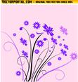Floral Vector Pink Background