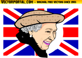 Queen Elizabeth II Vector Portrait