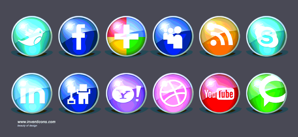 Free Icons 200 + Glossy Pack 1