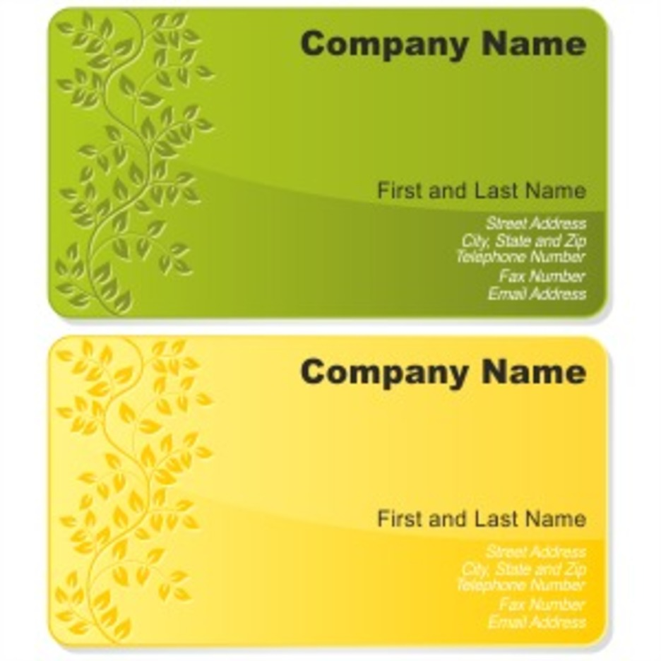 Floral Business Card Set