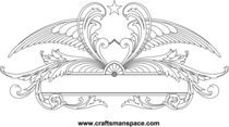 Ornamental Wings Sign