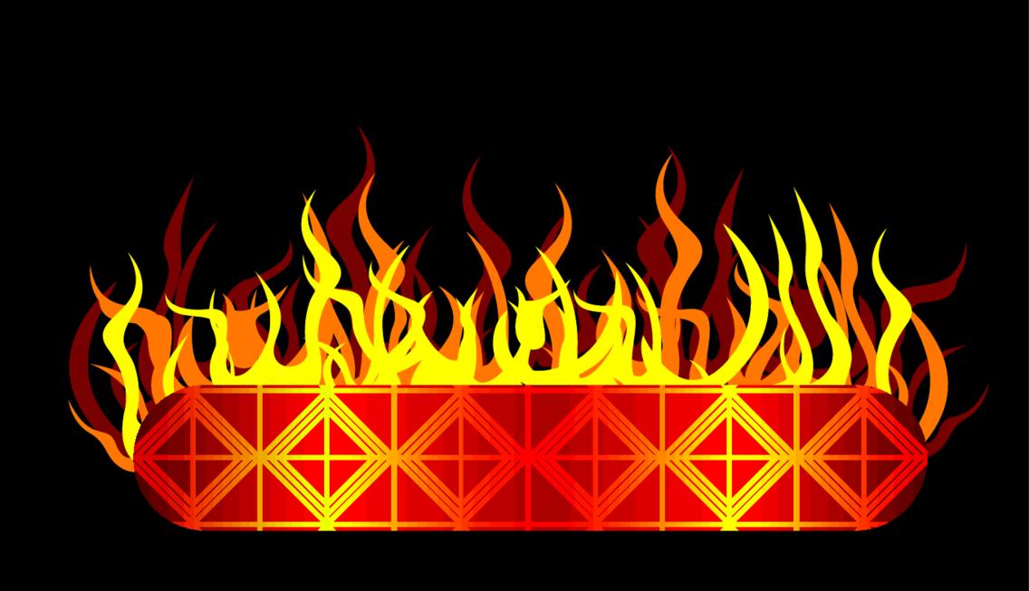 Burning Vector Banner