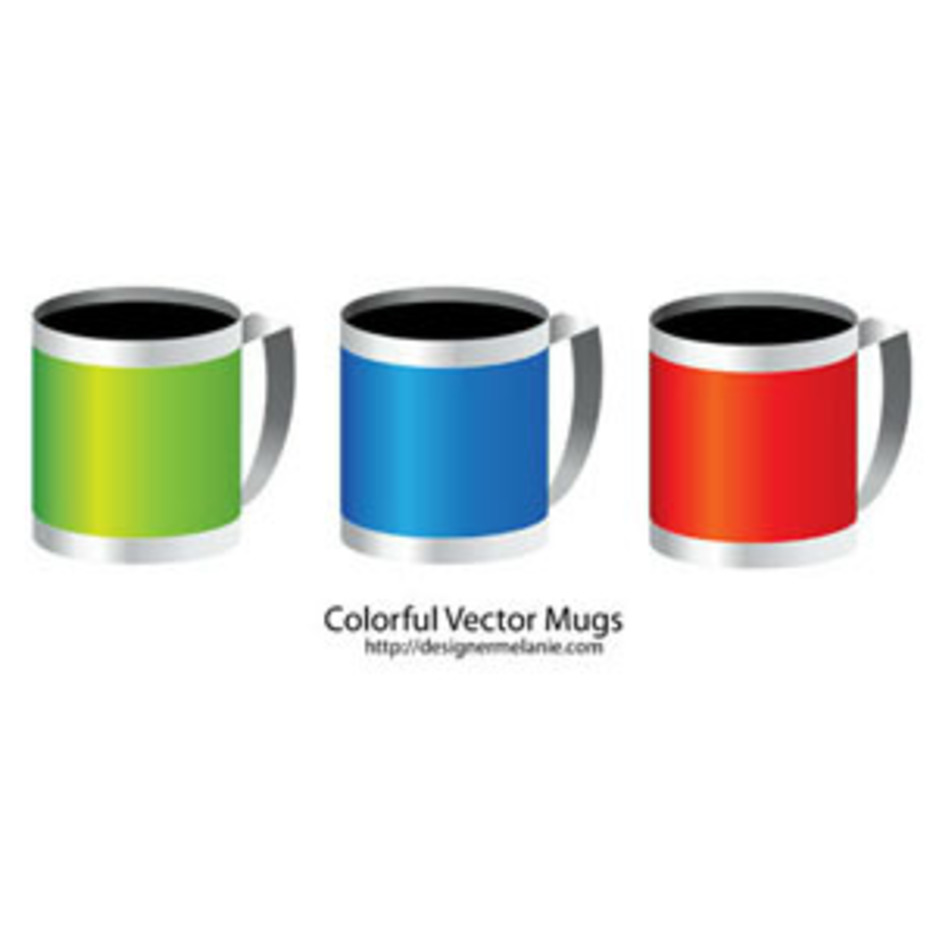Free Colorful Mug Vector