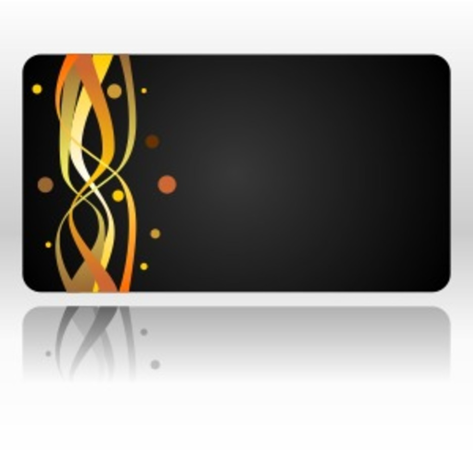 Business Card With Abstract Fire