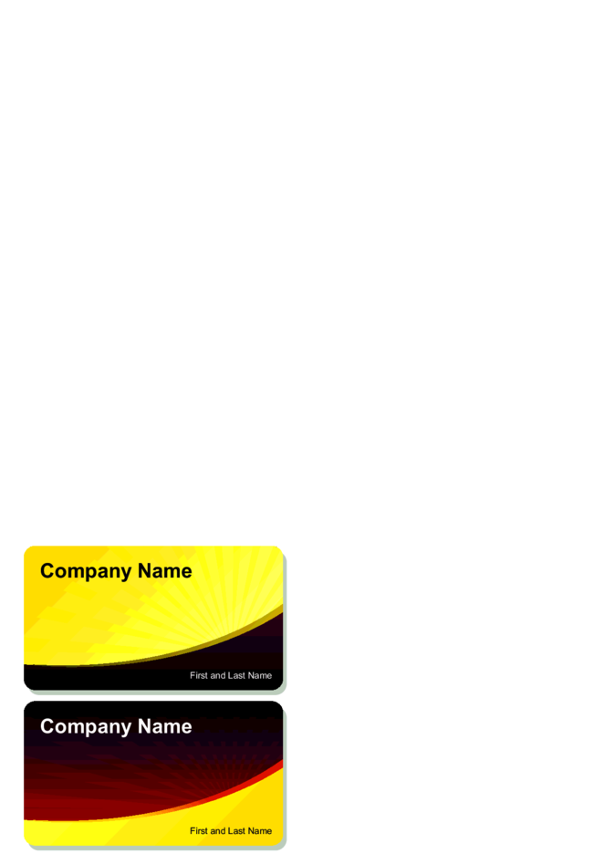 Solar Business Card