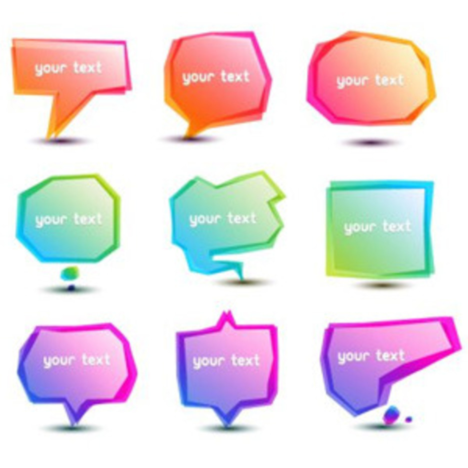 Gradient Speech Bubbles