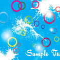 Colored Circles Blue Splash Background