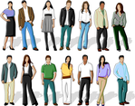 Simplistic People Vectors