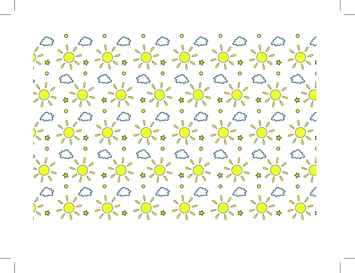 Sun And Cloud Seamless Vector Pattern