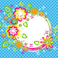 Colorful Summer Brush Circle Banner