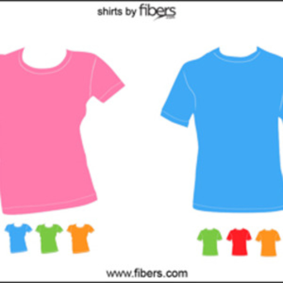 Fibers.com Free Vector T-Shirt Templates