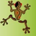 Peru African Animal Symbol , Frog