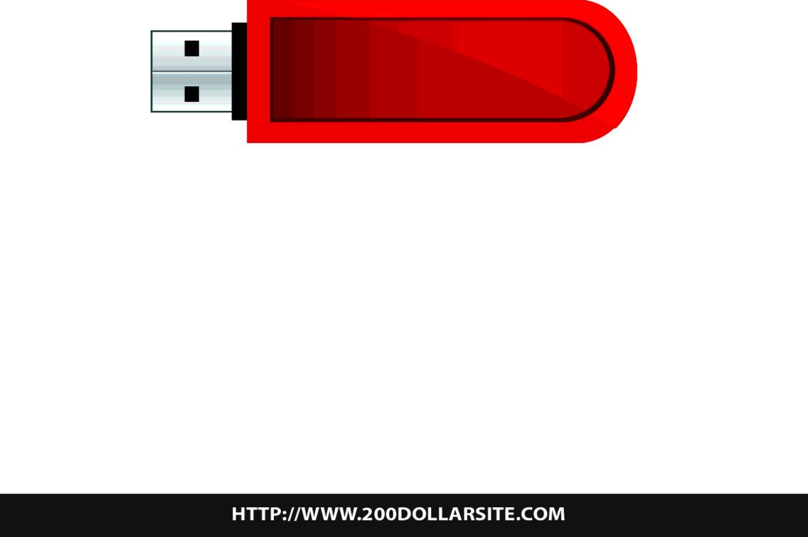 USB Flash Drive Free Vector